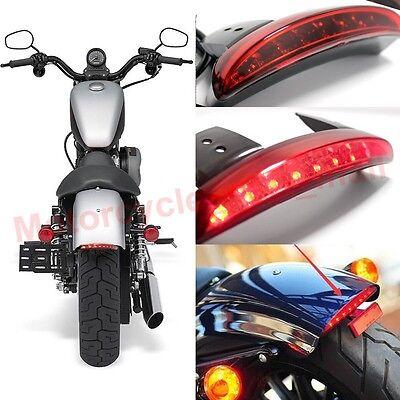 12V LED Motorcycle Bobber Turn Signals Brake License Plate Tail Light For Harley