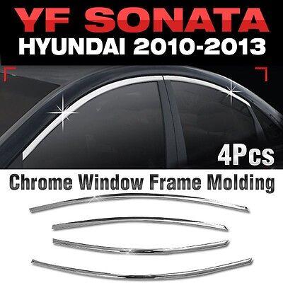 Chrome Door Window Glass Frame Molding For HYUNDAI 2011-2014 YF Sonata / i45