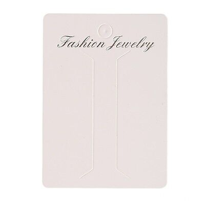100pcs White Paper Necklace Display Packing Cards Fit Jwewlry Diy 6.28.7cm