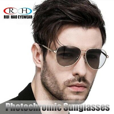 Men Polarized photochromic Glasses Transitions Eyewear Photosensitive lenses (Photosensitive Lenses Sunglasses)