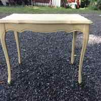 Distressed coffee table.