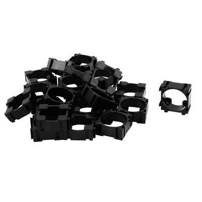 20pcs 18650 Lithium Battery Holder Bracket For Diy Cell Pack Black Ass