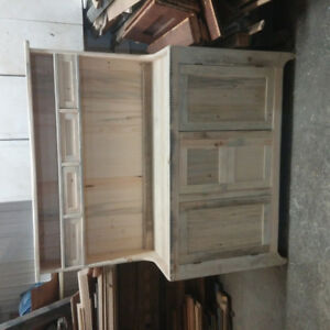 Handmade reproduction 1840s dry sink/ hutch sideboard.