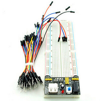 Mb-102 830 Point Solderless Pcb Breadboardpower Supply65pcs Jump Cable Wires M