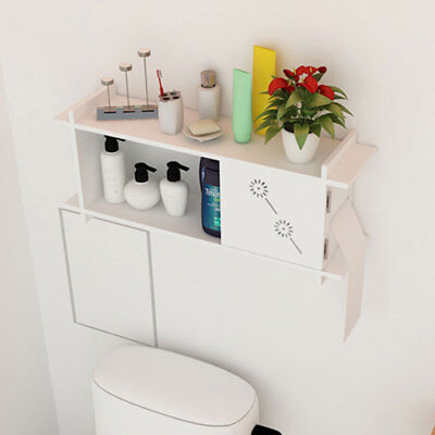 Wall Mounted Bathroom Storage MDF Kitchen Storage Cabinet Towel Organiser New