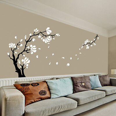 Magnolia Fiore & Albero Adesivi Artistici Parete / Da Muro, Decalcomania