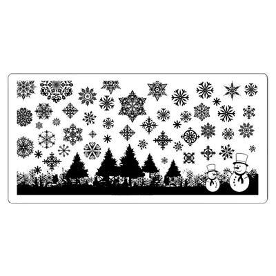 Schneeflocke Stamping Schablone Xmas Weihnachten Advent Stempelplatte SPH #6 ()