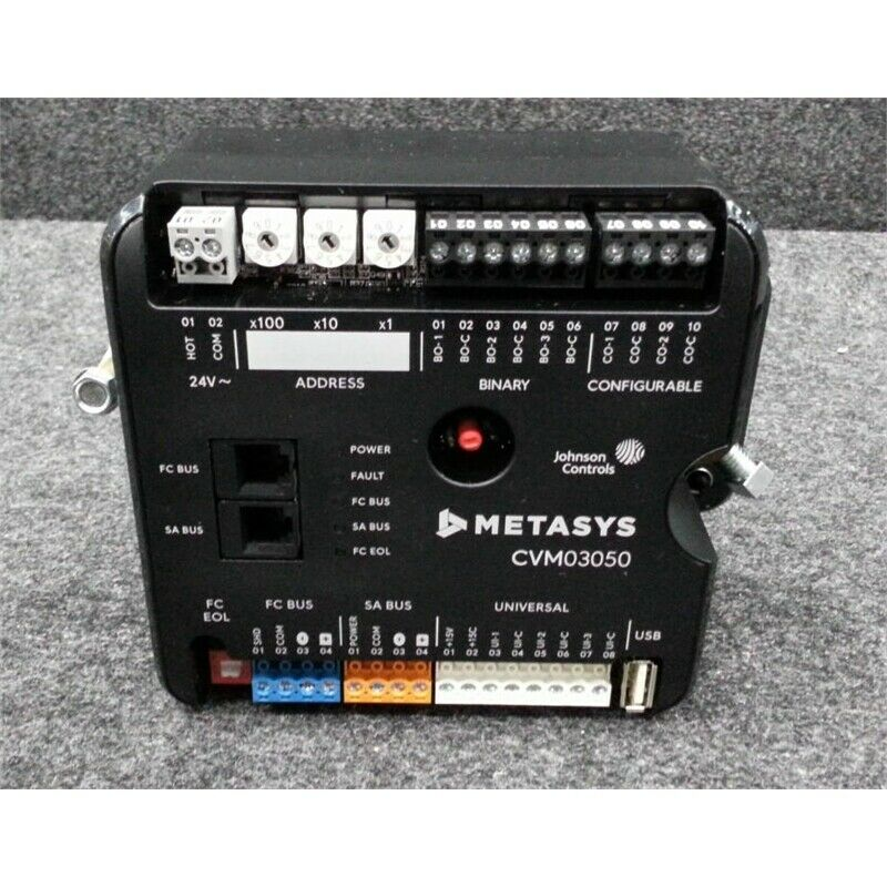 Johnson Controls CVM03050 Metasys VAV Box Controller w/ Integrated Actuator 8pts