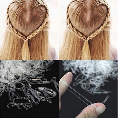 3000Pcs Mini Clear Rubber Hair Bands Makeup Elastic Braids Plaits Hair Styling - Mini Rubber Bands