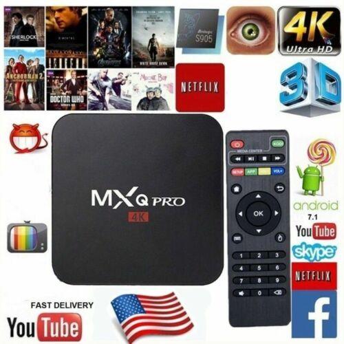 MXQ Pro 4K Ultra HD 64Bit Smart TV Box Wifi Android 7.1 Quad