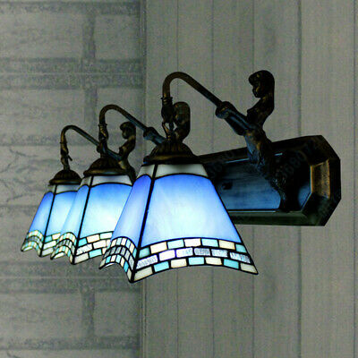 Tiffany Mermaid Bathroom Vanity Lighting Stained Glass Wall Sconce Light Fixture ()