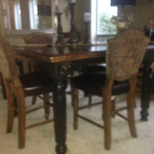 Beautiful Bar Height Dining Set
