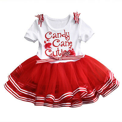 Short Sleeve Tutu - US Girls Christmas Dress Kids Short Sleeve Princess Party Formal Tutu Dress 1-6T