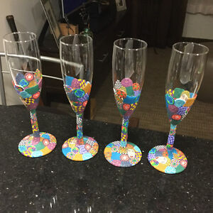 Custom made Champagne Flutes