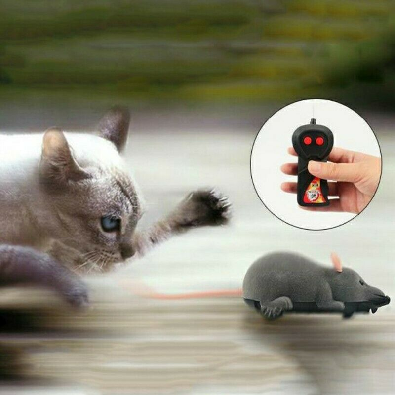 Remote Control RC Rat Mouse Wireless For Cat Dog Pet Funny Interactive Toy Suppl