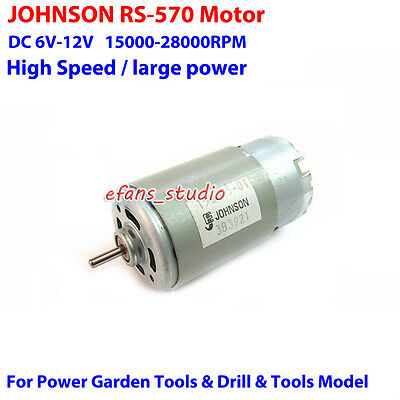 Johnson Rs-570 Motor Dc6v 9v 12v 28000rpm High Speed Diy Screwdriver Drill Tools