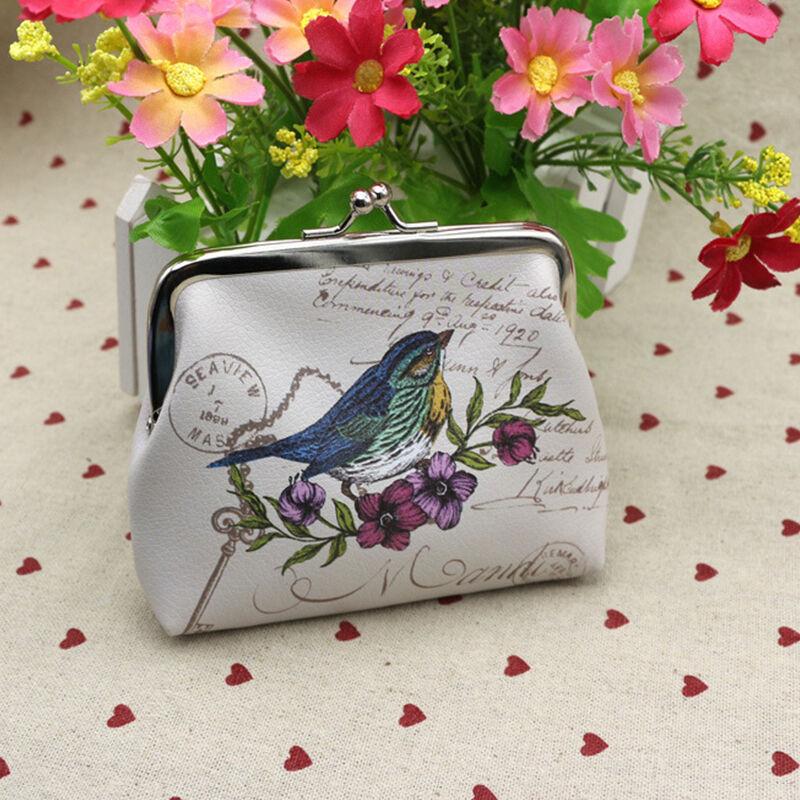 Damen Portemonnaie Geldbörse Geldbeutel Portmonee Blumen Lederbörse Brieftasche Kleine Mini Münze Geldbörse