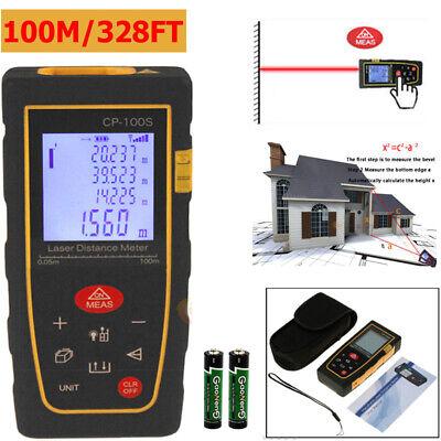 100m 328ft Digital Lcd Laser Distance Meter Range Finder Measure Tape Tool New