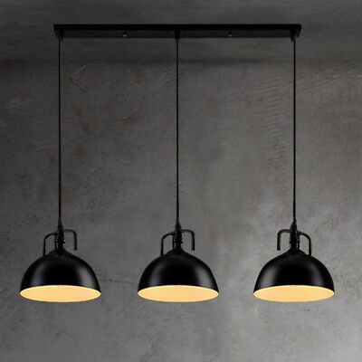 3 Lights Industrial Ceiling Light Island Lighting Kitchen Pendant Lamp Fixture ()