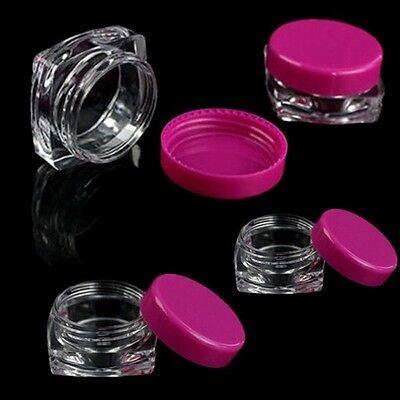 10Pcs Cosmetic Empty Jar Pot Eyeshadow Makeup Face Cream Lip Balm Container adf