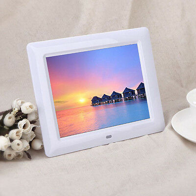 7' HD TFT-LCD Digital Photo Frame with Alarm Clock Slideshow MP3/4 Player Stylis