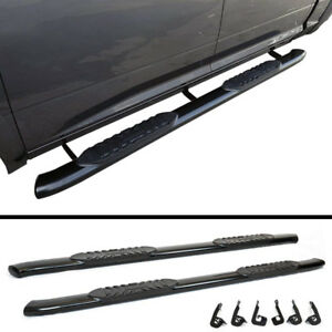 "NEW OEM Style 5"" Black Running Boards for GMC Sierra"
