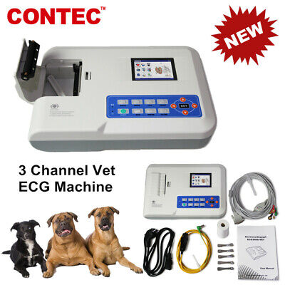 Veterinary Use Pets Animal 3 Channel 12 Leads Ecg Machine Pc Analysis Software
