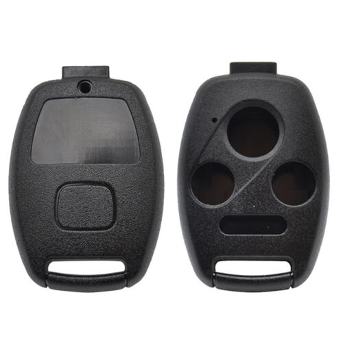 CUTTING NOT REQUIRED 2 Key Fob Keyless Entry Remote Shell Case /& Pad fits Honda Accord//Civic//CR-V//Fit//Odyssey//Pilot//Ridgeline//CR-Z