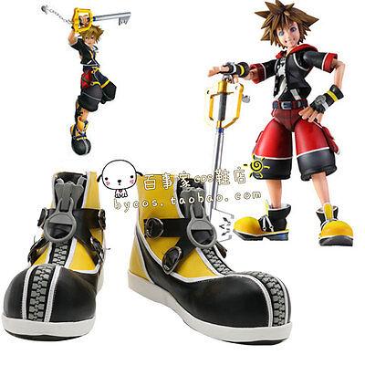 Kingdom Hearts Sora Yellow Shoes Cosplay Costume Shoes Boots Custom - Kingdom Costumes