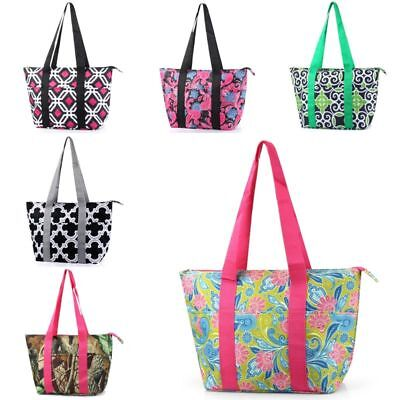 Large Insulated Lunch Bag Cooler Picnic Travel Food Box Women Tote Carry -