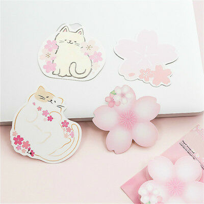 Sakura Cat Memo Pad Kawaii Paper Pad School Office Stationery Supplies