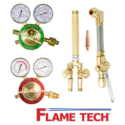 Flame Tech Ftvhd-a1 Heavy Duty Oxy-acetylene Cutting Torch Contractor Kit Victor