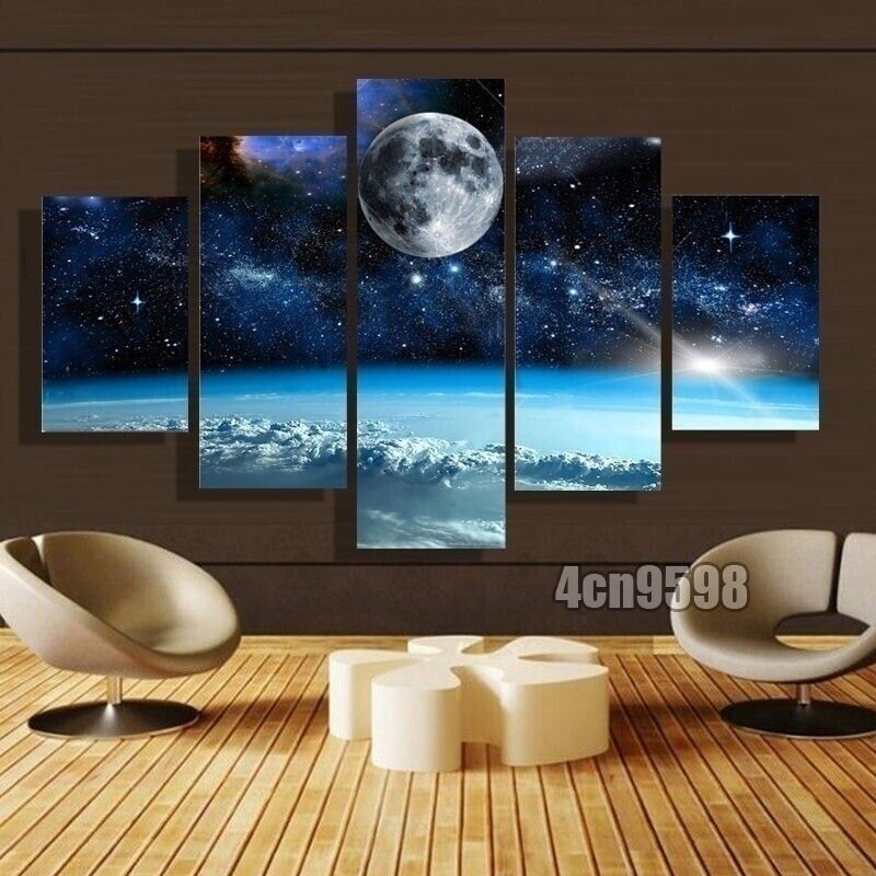 Starry Star Starlight High Quality Bedroom and Living Room Canvas No Frames