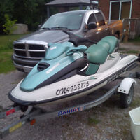 2000 SEADOO GTX RFI 3 SEATER REALLY CLEAN LOW HOURS / TRAILER