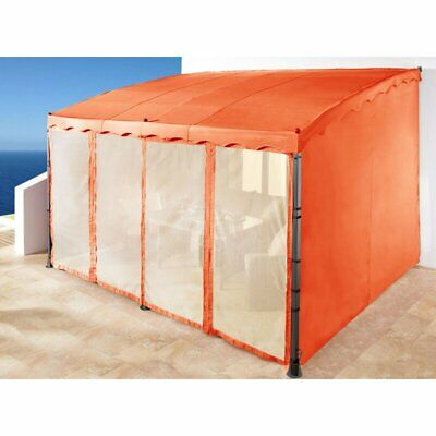 Grasekamp Side Wall 2 Side Parts for Mallorca Terracotta Pergola, Orange