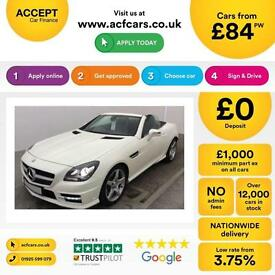 Mercedes-Benz SLK250 FROM £84 PER WEEK!