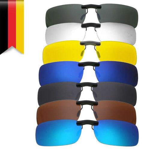 Sonnenbrillen Clip Aufsatz Aufsteck Blau oder Braun Tönung polarisiert UV 400