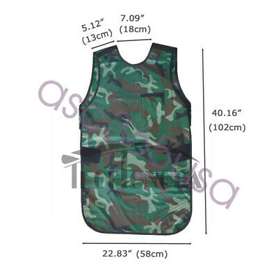 Camouflage 0.35mmpb Protection Apron Lead Dental X-ray Apron Collar L Size New