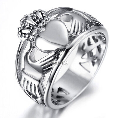 The Claddagh Wedding Rings for Men Women Heart Crown Promise Band Celtic Knot - The Wedding Knot