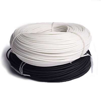 1mm-25mm Silicon Fiber Glass Sleeving Cable Wire Heat Resistant Tube Whiteblack