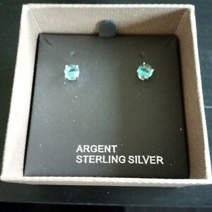 Light Blue Argent Sterling Silver Earrings - New Kitchener / Waterloo Kitchener Area image 1