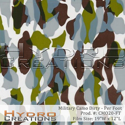 Hydrographic Film For Hydro Dipping Water Transfer Dirty Military Camo -per Foot