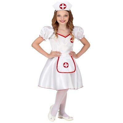 Kinder Kostüm KRANKENSCHWESTER  - Kleid mit Haube - Mädchen Fasching - Krankenschwestern Kostüm Kinder