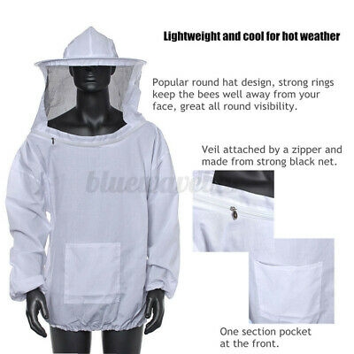 Beekeeper Protect Bee Keeping Suit Jacket Safty Veil Hat Body Equipment Hood