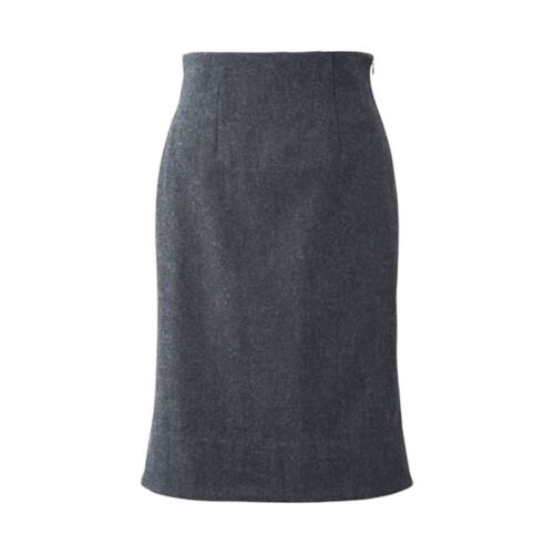 UNIQLO WOMEN(+J) Wool Blended High Waist Tight Mermaid Gray Skirt, Size 2