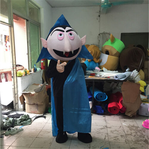 Sesame Street Mascot The Count Von Count Costume Suit Dress Cosplay Dress Outfit