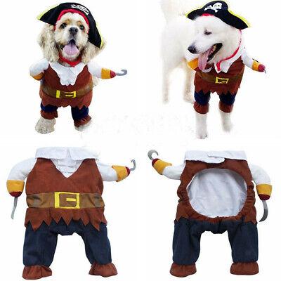 Haustier Hund Katze Pirat Form Kleidung Doggy Kleidung Kostümkleid Anzug