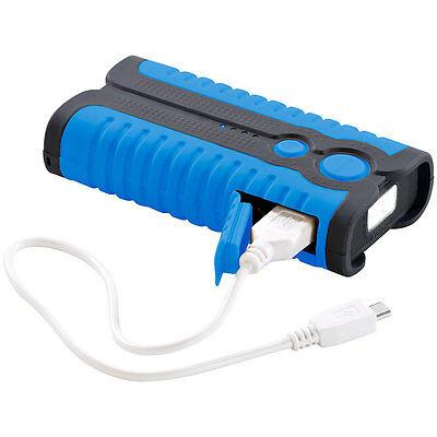 USB Outdoor Powerbanks: Outdoor-Powerbank PB-52.od IP67, 5.200 mAh, LED-Lampe