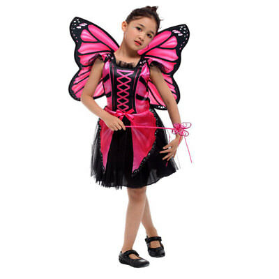 Halloween Butterfly Fairy Costume Pink Blue Elf Princess Cosplay Dress for - Butterfly Costume For Halloween