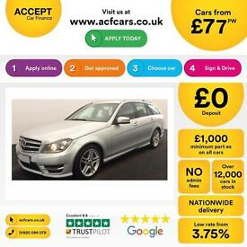 Mercedes-Benz C220 FROM £77 PER WEEK!